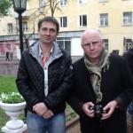 Автор-исполнитель эстрадных песен Александр Филатов и актер Валерий Баринов