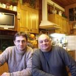 Автор-исполнитель эстрадных песен Александр Филатов и актер Михаил Церишенко